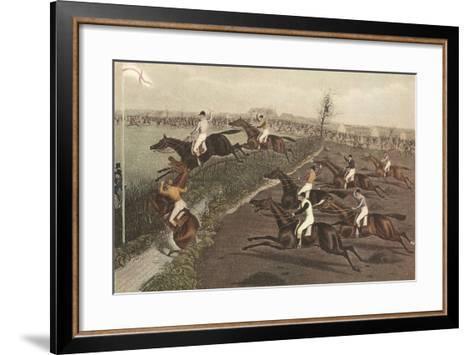The Grand Steeple Chase II-F.C. Turner-Framed Art Print