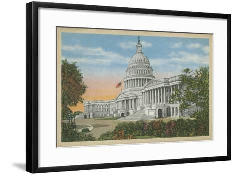 Capitol Building, Washington, D.C.--Framed Art Print