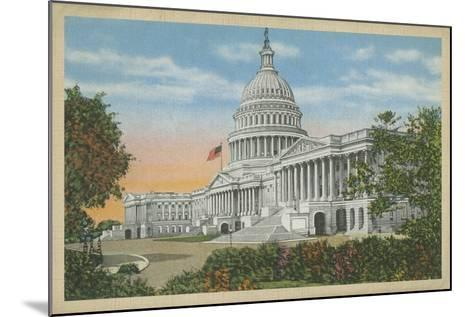 Capitol Building, Washington, D.C.--Mounted Art Print