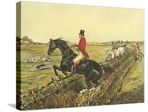 The English Hunt IV-Henry Alken-Stretched Canvas Print