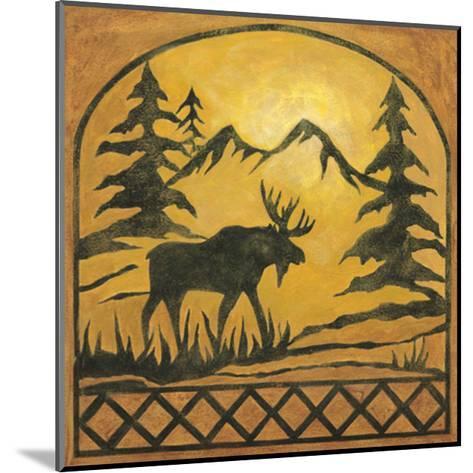 Lodge Moose Silhouette-Chariklia Zarris-Mounted Art Print