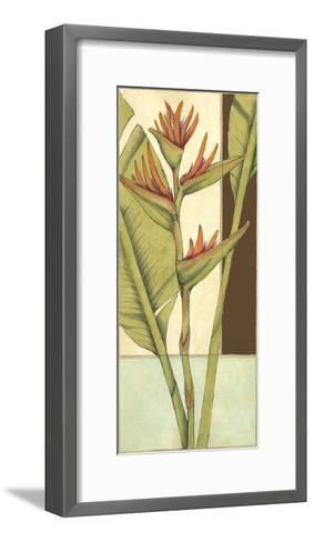 Tropical Flower Panel II-Jennifer Goldberger-Framed Art Print