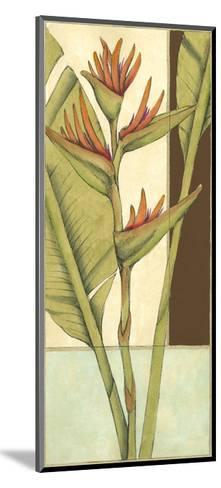 Tropical Flower Panel II-Jennifer Goldberger-Mounted Art Print