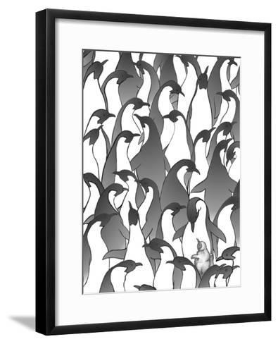 Penguin Family I-Charles Swinford-Framed Art Print