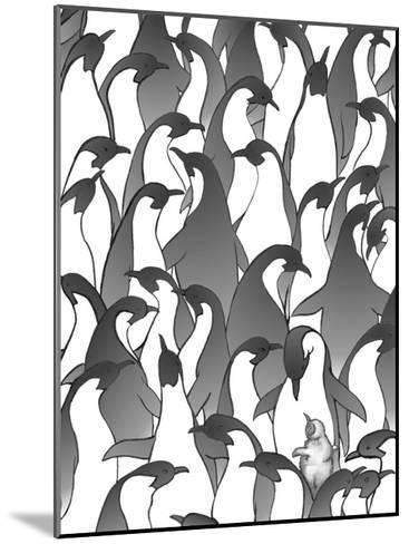 Penguin Family I-Charles Swinford-Mounted Art Print
