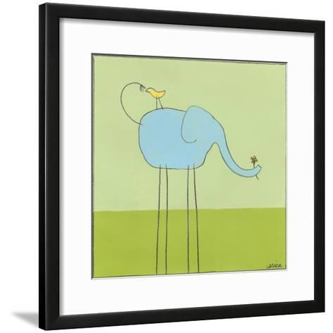 Stick-leg Elephant I-June Erica Vess-Framed Art Print