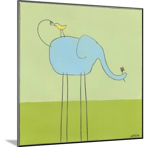 Stick-leg Elephant I-June Erica Vess-Mounted Art Print