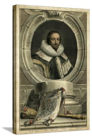 Houbraken Portrait IV-J. Houbraken-Stretched Canvas Print