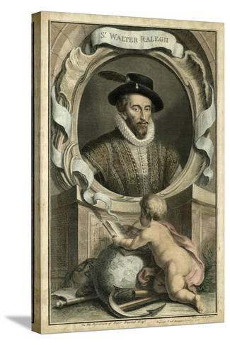 Houbraken Portrait V-J. Houbraken-Stretched Canvas Print
