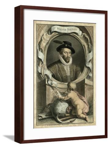 Houbraken Portrait V-J. Houbraken-Framed Art Print