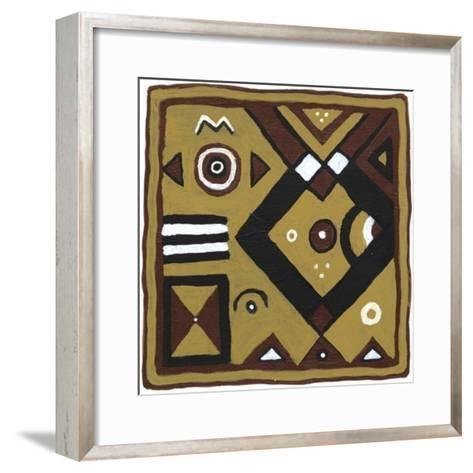 Tribal Rhythms IV-Virginia A^ Roper-Framed Art Print
