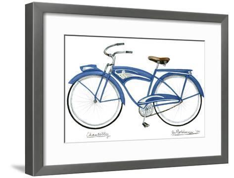Blue Chantilly-Jennifer Goldberger-Framed Art Print
