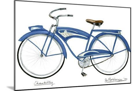 Blue Chantilly-Jennifer Goldberger-Mounted Art Print