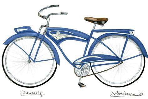 Blue Chantilly-Jennifer Goldberger-Stretched Canvas Print
