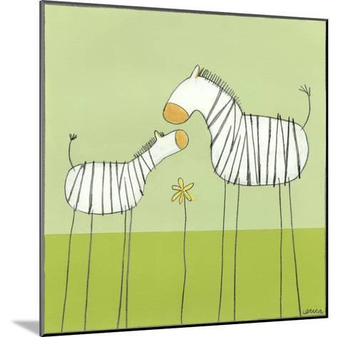 Stick-leg Zebra II-June Erica Vess-Mounted Art Print