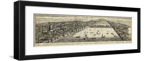 The West Prospect of London--Framed Art Print