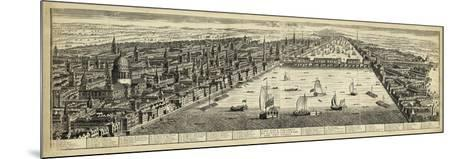 The West Prospect of London--Mounted Art Print