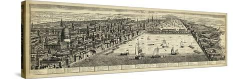 The West Prospect of London--Stretched Canvas Print