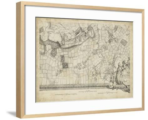 Map of London Grid XIV--Framed Art Print