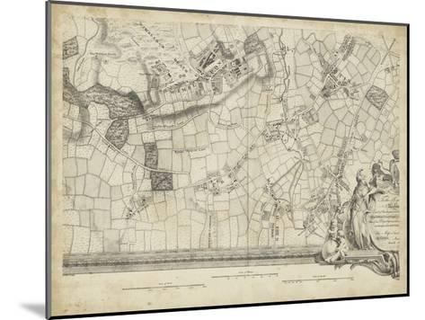 Map of London Grid XIV--Mounted Art Print