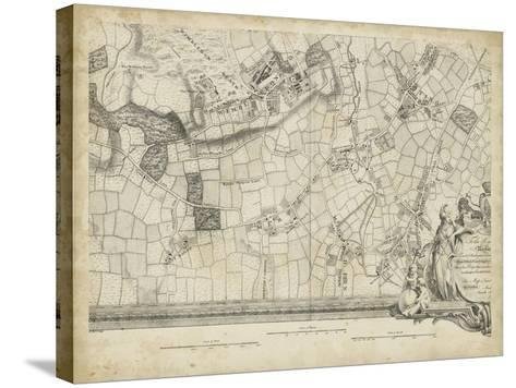 Map of London Grid XIV--Stretched Canvas Print