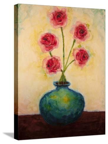 Big Blue Vase-Marabeth Quin-Stretched Canvas Print