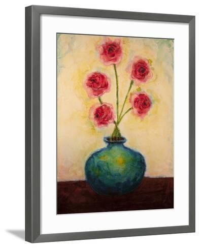 Big Blue Vase-Marabeth Quin-Framed Art Print