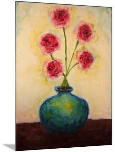 Big Blue Vase-Marabeth Quin-Mounted Art Print