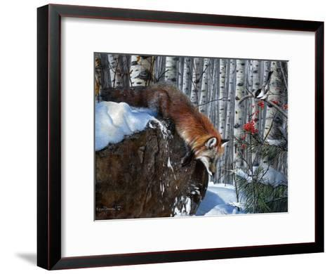 Fox in Winter-Kevin Daniel-Framed Art Print