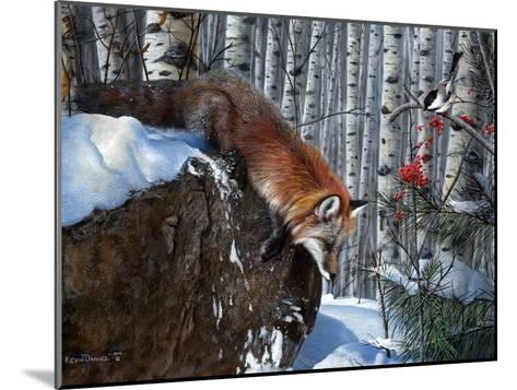 Fox in Winter-Kevin Daniel-Mounted Art Print