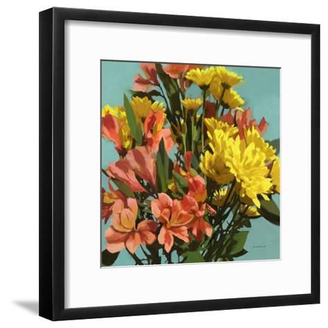 Vibrant Bouquet I-Rick Novak-Framed Art Print