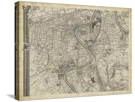 Map of London Grid IX--Stretched Canvas Print