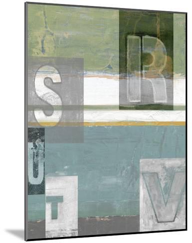 Letter Play II-Vision Studio-Mounted Art Print
