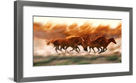 Blazing Herd II-David Drost-Framed Art Print