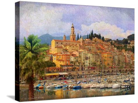 Marina at Monaco-Chris Vest-Stretched Canvas Print