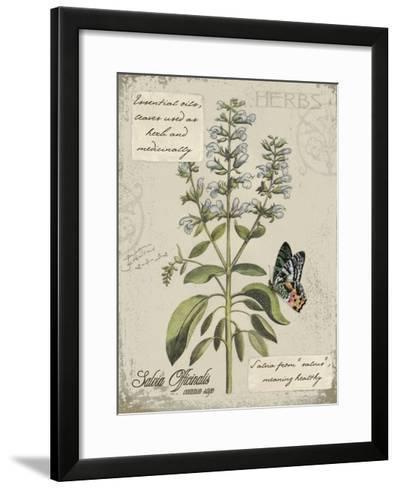 Herbs & Butterflies II-Kate Ward Thacker-Framed Art Print
