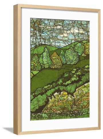 Green Landscape II-Andrea Davis-Framed Art Print