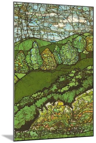 Green Landscape II-Andrea Davis-Mounted Art Print