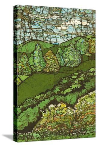 Green Landscape II-Andrea Davis-Stretched Canvas Print