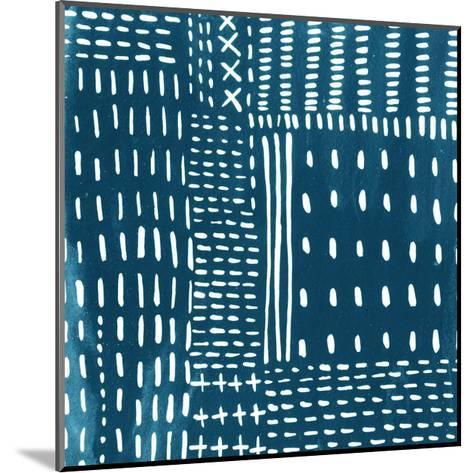 Sashiko Stitches III-Chariklia Zarris-Mounted Premium Giclee Print