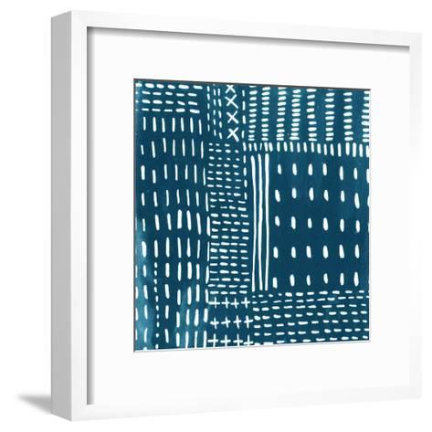 Sashiko Stitches III-Chariklia Zarris-Framed Art Print