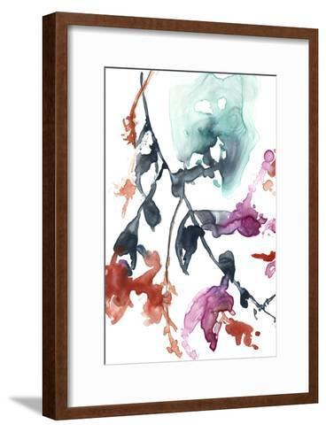 Hanging Fuchsia I-Jennifer Goldberger-Framed Art Print