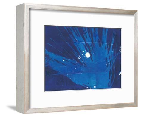 Indigo Burst I-Regina Moore-Framed Art Print
