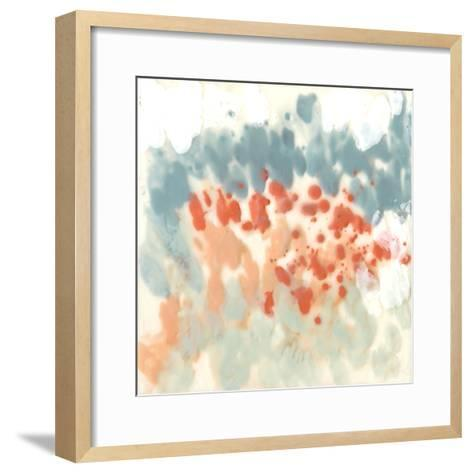 Blueberry & Coral Field II-Jennifer Goldberger-Framed Art Print