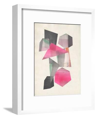 Collaged Shapes I-Jennifer Goldberger-Framed Art Print