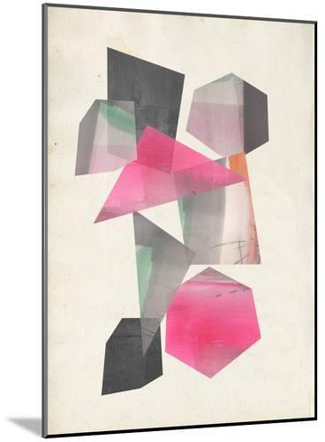 Collaged Shapes I-Jennifer Goldberger-Mounted Premium Giclee Print
