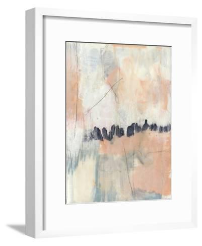 Blush & Navy II-Jennifer Goldberger-Framed Art Print
