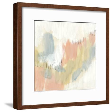 Stitched Pastels I-Jennifer Goldberger-Framed Art Print