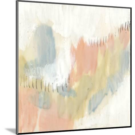 Stitched Pastels I-Jennifer Goldberger-Mounted Premium Giclee Print
