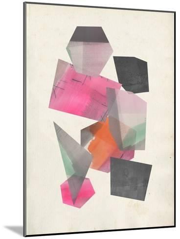 Collaged Shapes II-Jennifer Goldberger-Mounted Premium Giclee Print